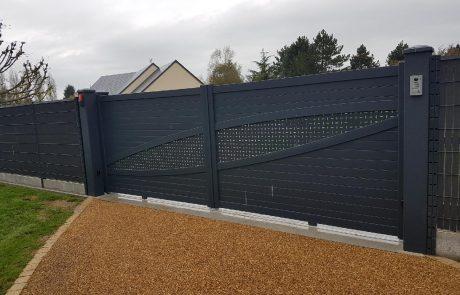 portail gyt clôture dirickx brochard paysage Mayenne