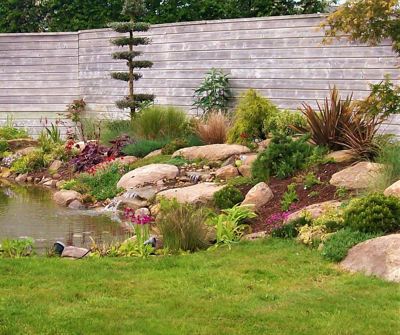 ambiance végétale eau gazon brochard paysage forcé