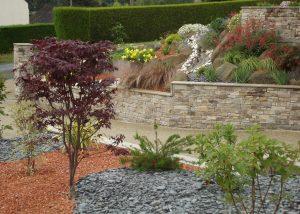 ambiance végétale vivaces érable galets brochard paysage chailland