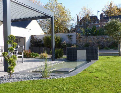 Terrasse avec bassin, Mayenne